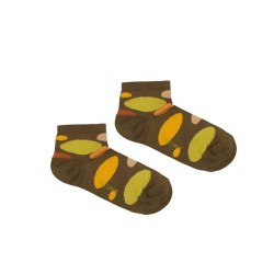 MOON KHAKI ANKLE-SOCK