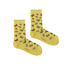 BUTTERFLIES SOCK GREEN