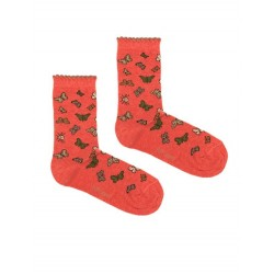 BUTTERFLIES SOCK PINK