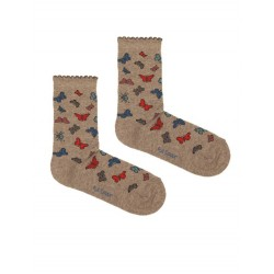BUTTERFLIES SOCK GREY
