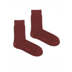 SOLID BORDEAUX SOCK