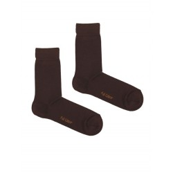 SOLID BROWN SOCK