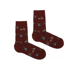 SCOOTER SOCK BURGUNDY
