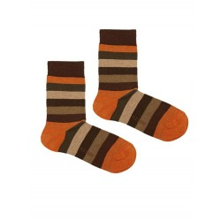 STRIPES SOCK BROWN