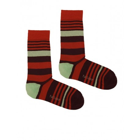 STRIPES SOCK LIGHT BROWN