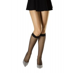 METALLIC NETTING LUREX KNEE-HIGHS