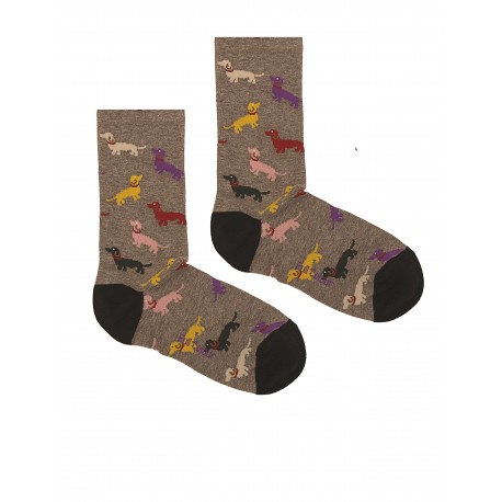 SOCKS WITH GREY DOGS FOR MEN