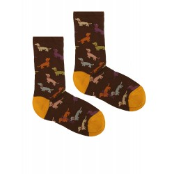 FANTASY SOCKS WITH BROWN DOGS FOR MEN