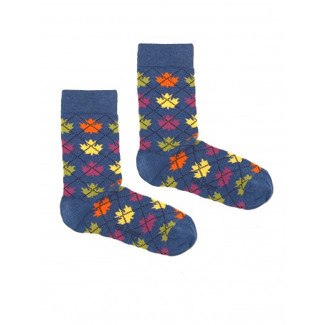 QUEBEC BLUE WOMAN SOCKS