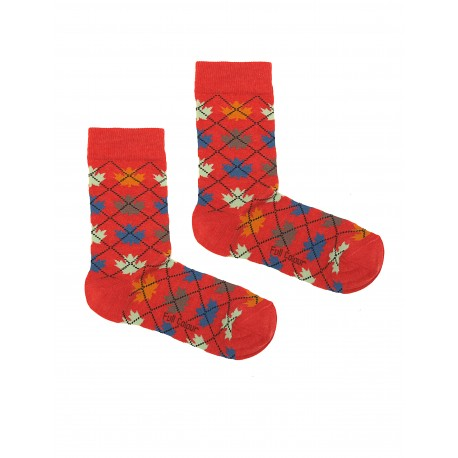 QUEBEC RED WOMAN SOCKS