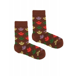 QUEBEC BROWN WOMAN SOCKS