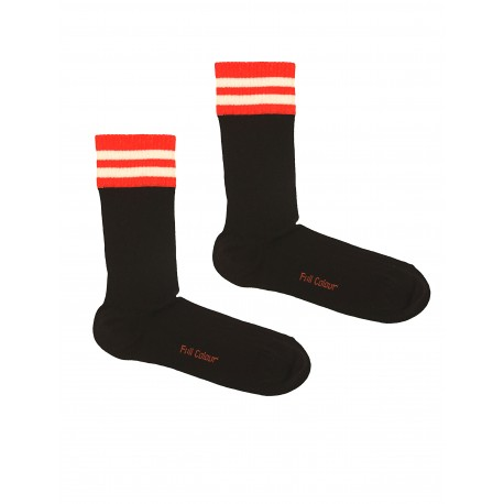 SPORT BLACK STRIPED SOCKS