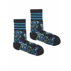 BLUE SPORT FLOWERS SOCKS