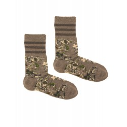 GREY SPORT FLOWERS SOCKS