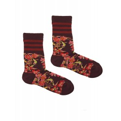 BORDEAUX SPORT FLOWERS SOCKS