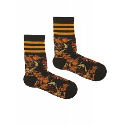 BLACK SPORT FLOWERS SOCKS