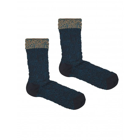 BROCADO BLUE SOCKS