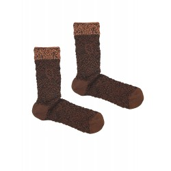 BROCADO BROWN SOCKS