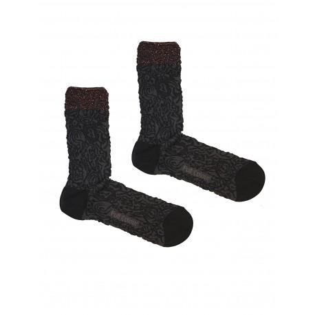 BROCADO BLACK SOCKS