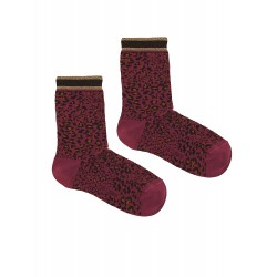 LEOPARD PURPLE SOCKS