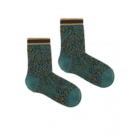 LEOPARD BLUE SOCKS