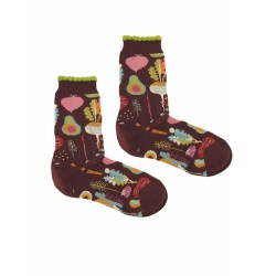 VEGETABLES BORDEAUX WOMAN SOCKS