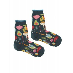 VEGETABLES BLUE WOMAN SOCKS