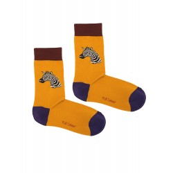 ZEBRA MUSTARD WOMAN SOCKS