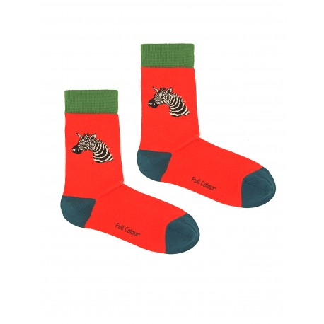 ZEBRA CORAL WOMAN SOCKS