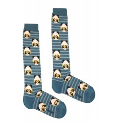 BLUE LONG PANDA SOCKS